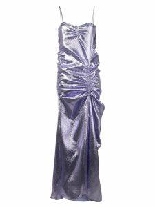 Priscavera metallic effect evening dress - Purple