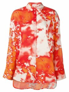 MSGM tie-dye print shirt - ORANGE