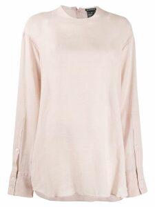 Ann Demeulemeester dropped shoulder blouse - Neutrals
