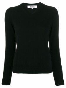 Comme Des Garçons Play classic knit sweater - Black
