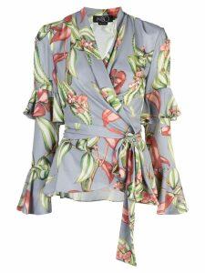 Patbo wrap front blouse - Blue