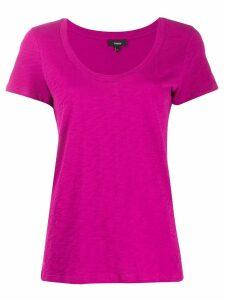 Theory U-neck T-shirt - Pink