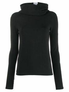 Paco Rabanne back logo stripe comfort hoodie - Black