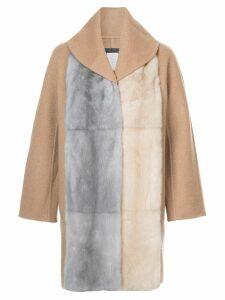 Fabiana Filippi fur cape coat - Neutrals