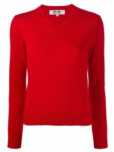 Comme Des Garçons Play classic knit sweater - Red