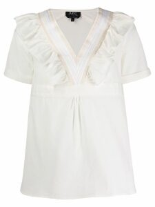 A.P.C. ruffle-trimmed blouse - White