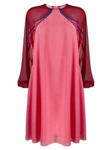 Giamba longsleeved shift dres - PINK