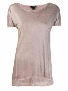 Avant Toi metallic sheen top - Pink