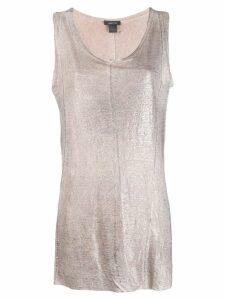 Avant Toi metallic effect vest top - Grey