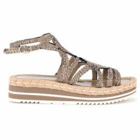 Pon´s Quintana  Sandalo in pelle metallizzata acciaio  women's Sandals in Grey