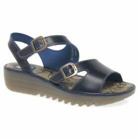 Fly London  Enat Womens Wedge Heel Sandals  women's Sandals in Blue