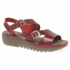 Fly London  Enat Womens Wedge Heel Sandals  women's Sandals in Red