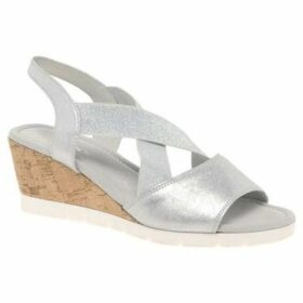 Gabor  Nancy Womens Slingback Wedge Heel Sandals  women's Sandals in Silver