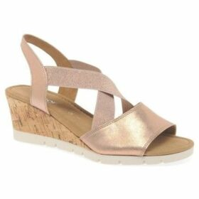 Gabor  Nancy Womens Slingback Wedge Heel Sandals  women's Sandals in Gold