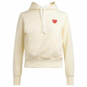Comme Des Garcons  Felpa avorio con cappuccio  women's Sweatshirt in White