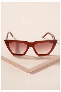 Carla Colour Modan Angular Sunglasses - Purple