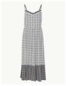 M&S Collection Geometric Print Slip Midi Dress