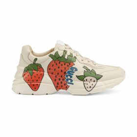 Women's Rhyton sneaker with Gucci Strawberry