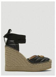 Gucci Leather Espadrille Platform Shoes in Black size EU - 40