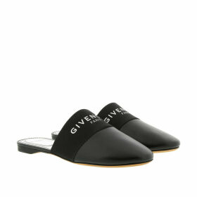 Givenchy Loafers & Slippers - Logo Slip Mules Leather Black - black - Loafers & Slippers for ladies