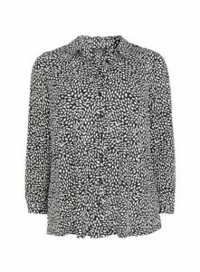 Monochrome Button Shirt, Dark Multi