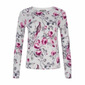 Long Sleeve Floral Print Jumper
