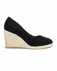 Iris Espadrille Wedge Court Ex Wide Fit