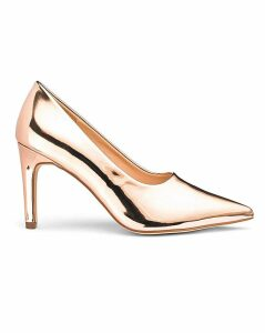 Joy High Vamp Court Shoe Wide Fit