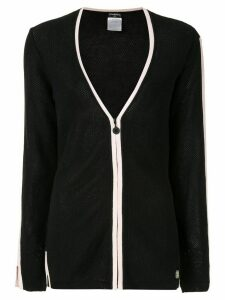 Chanel Pre-Owned two-tone cardigan - Black