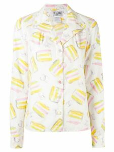 Chanel Pre-Owned ice cream print shirt - White