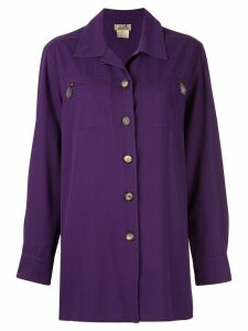Hermès Pre-Owned oversized shirt - PURPLE