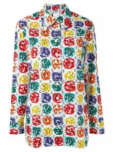 Chanel Pre-Owned 1998 camelia print shirt - Multicolour