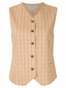 Burberry Pre-Owned checked vest - Brown