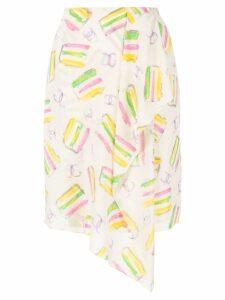 Chanel Pre-Owned ice cream print skirt - White