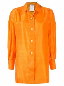 Chanel Pre-Owned 1980s CC Logos Button Long Sleeve Shirts - ORANGE