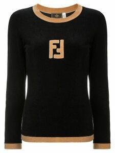 Fendi Pre-Owned long sleeve jumper - Black