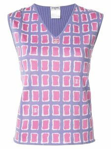 Chanel Pre-Owned sleeveless top - PURPLE