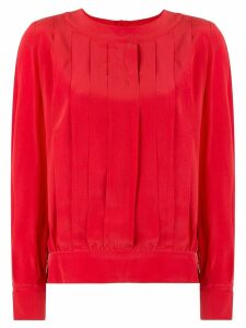 Chanel Pre-Owned CC Logos Button Blouse - Red