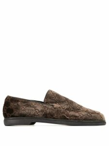 Gucci Pre-Owned GUCCI Logos Shoes - Brown