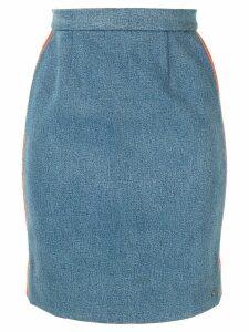 Chanel Pre-Owned CC logo skirt - Blue