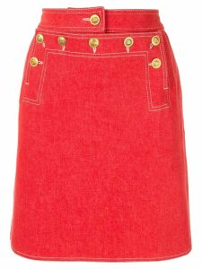 Chanel Pre-Owned CC Logos Skirt - Red