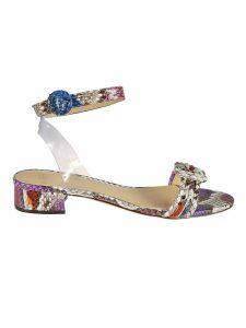 Alexandre Birman Snake Skin Sandals