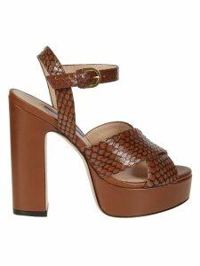 Stuart Weitzman Snake Skin Platform Sandals