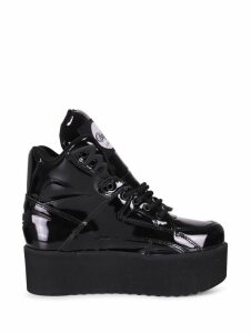 Junya Watanabe X Buffalo Black Enamel Sneakers