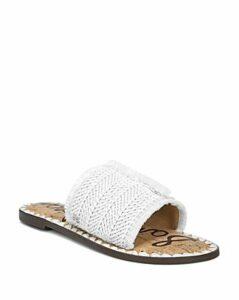 Sam Edelman Women's Glenda Raffia Frayed Slide Sandals
