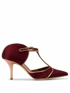 Malone Souliers structured t-bar mules