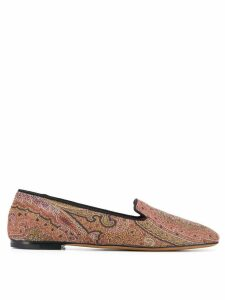 Etro paisley pattern loafers - Brown