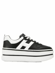 Hogan logo platform sneakers - Black