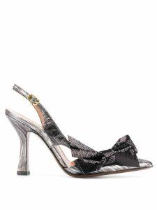 L'Autre Chose bow detail pointed pumps - Black