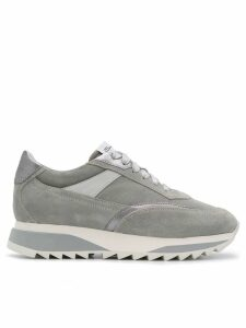 Santoni platform lace-up sneakers - Grey
